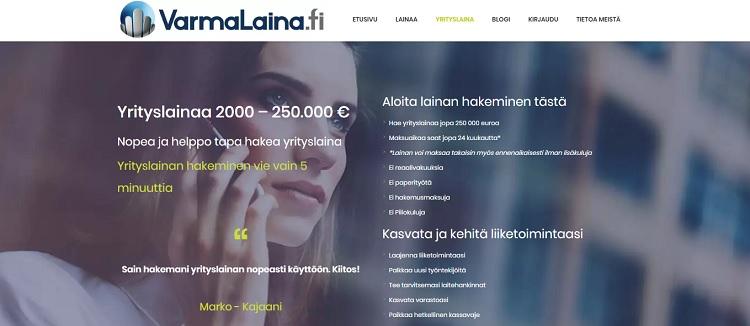 Varmalaina.fi yrityslaina