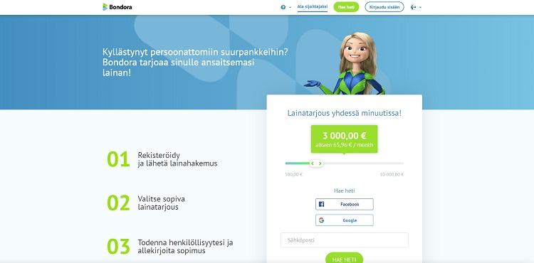 Bondora - Lainaa 500 - 10.000 euroa