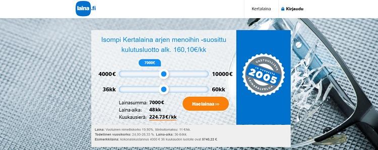 Laina.fi kertalaina jopa 10.000 euroa