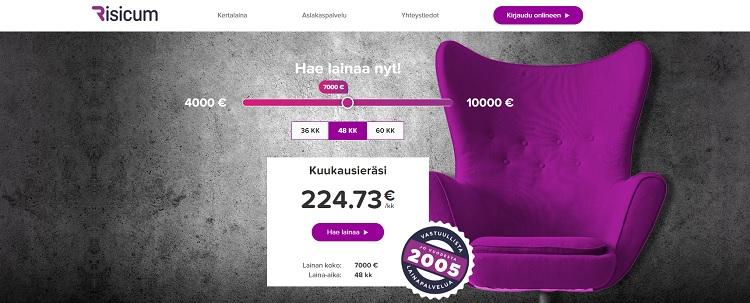 Risicum kulutusluotto 10000 euroa