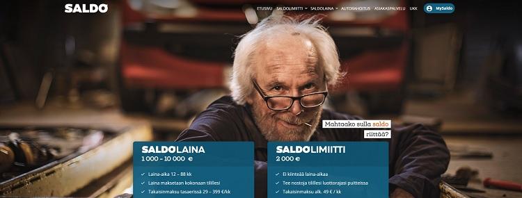 Saldo.com kulutusluottoa ja joustoluottoa